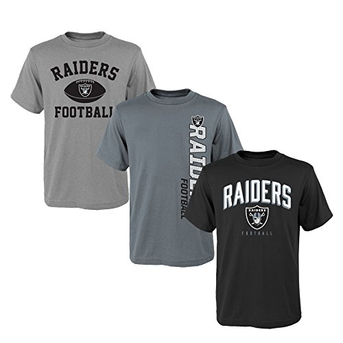 NFL Youth Boys 8-20  Tee Set (3Piece), Medium (10-12), Assorted Colors