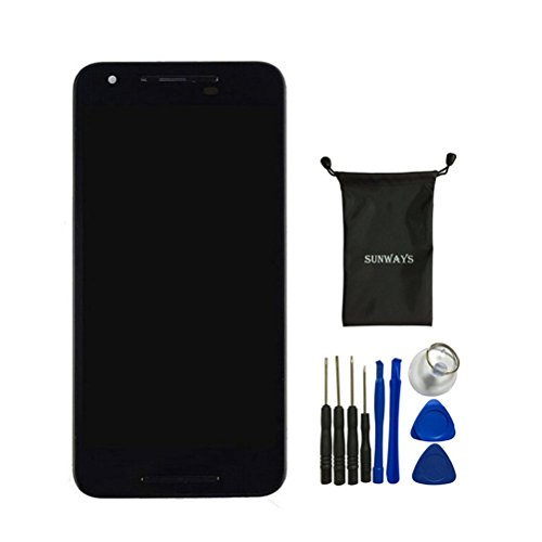 Price comparison product image Sunways LCD Display Touch Digitizer Screen Replacement With Frame For LG Google Nexus 5X H791 H790 With device opening tools