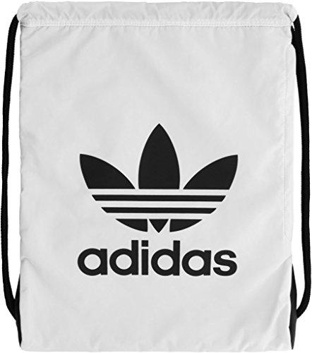 adidas Originals Trefoil Sackpack, White/Black, One ()
