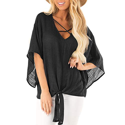 Pengy Women's Blouse Bat Sleeve Summer Cover Up