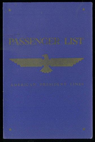 American President Lines Passenger List SS President Polk 1963