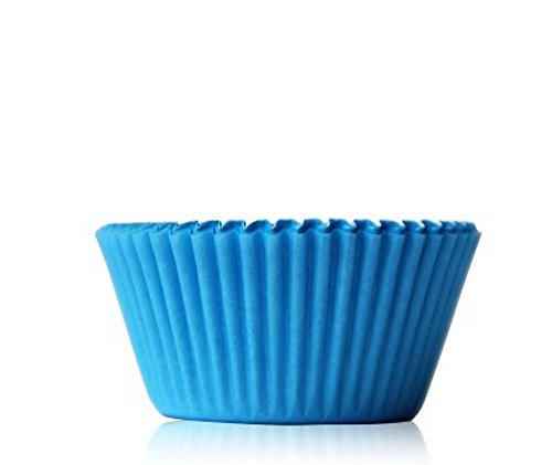 Lautechco 100pcs Muffin Cupcake Paper Cups Oil-proof Chocolate Paper Tray Cake Baking Paper Cups Mold Cupcakes Cases (Blue)