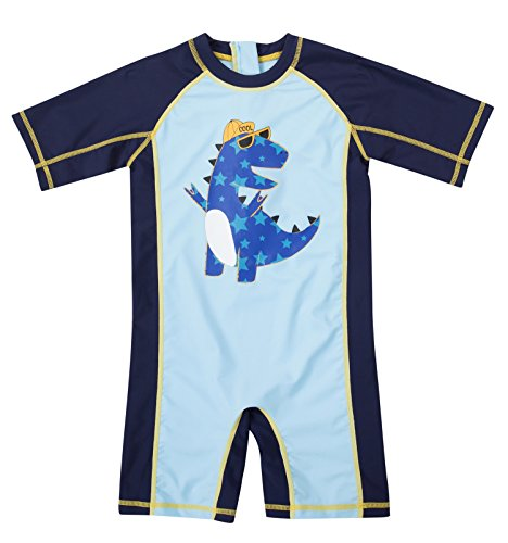 (ATTRACO Toddler Boys 1 pcs Rash Guard Bathing Suits Swimsuit 12-18)