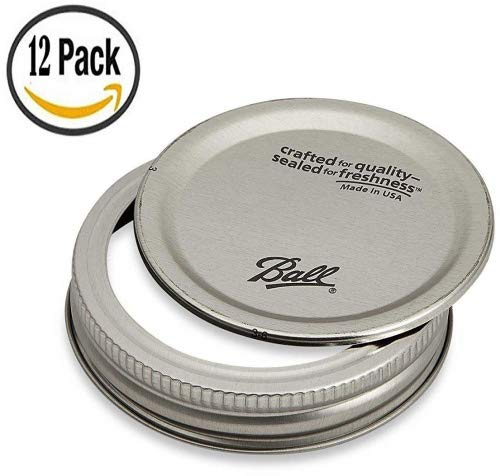 Ball Wide Mouth Replacement Lids and Bands - 12 pack