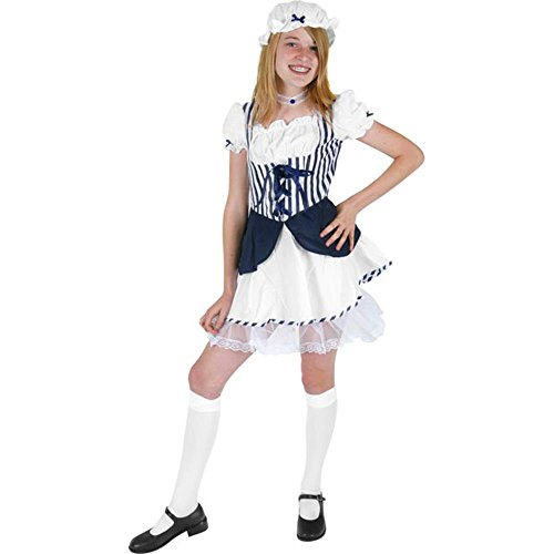 Girl's Preteen Blue Little Bo Peep Costume (Size: Teen (Little Bo Peep Teen Costume)