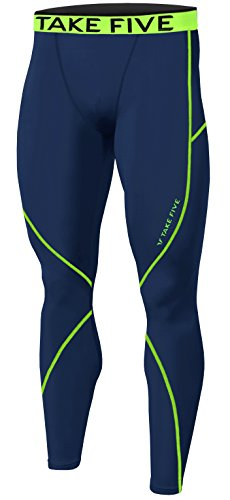 New Men Sports Apparel Skin Tights Compression Base Under Layer Long Pants (M, NP505 - Men Running Apparel