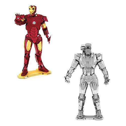 Fascinations Metal Earth 3D Model Kits Marvel Avengers Set of 2 Iron Man & War Machine ()