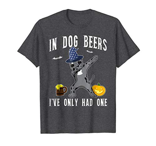 Dabbing Great Dane Halloween Shirt Dog Beer Only One Funny
