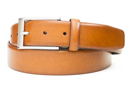 - Burnished Leather Belt (42, Cognac)