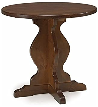 Arredamenti Rustici Table Ronde Pied Central En Pin Massif 80x80