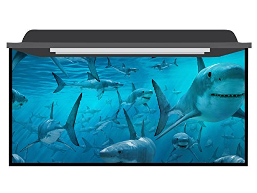 Deep Blue Themes Shark Clones Aquarium Background (121-210 Gallons (80Wx30H)) by Deep Blue Themes