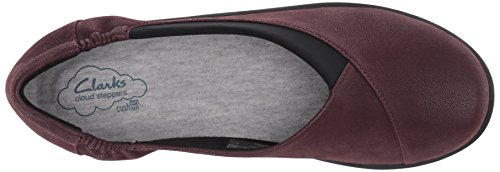 soporte Sillian Heathered de Jetay Clarks Burgundy cloudsteppers mujer Fabric Iwq1FF