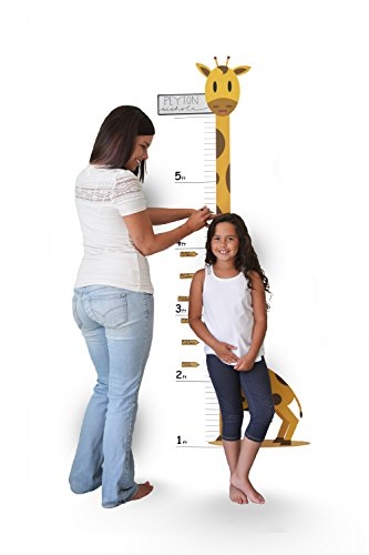 Growth Chart Wall Sticker - Oversize Calendar Growth Chart Wall Decal - Growth Chart Giraffe - Low-Tac Removable Adhesive