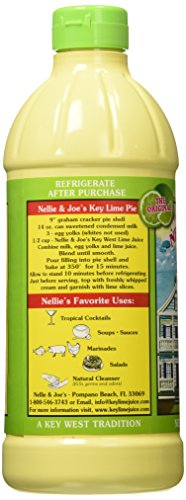 Nellie & Joe Key West Lime Juice, 16 Fl Oz (Pack of 3) 4 Nellie & Joe Key West Lime Juice - 16 oz 16 FZ 3 Pack