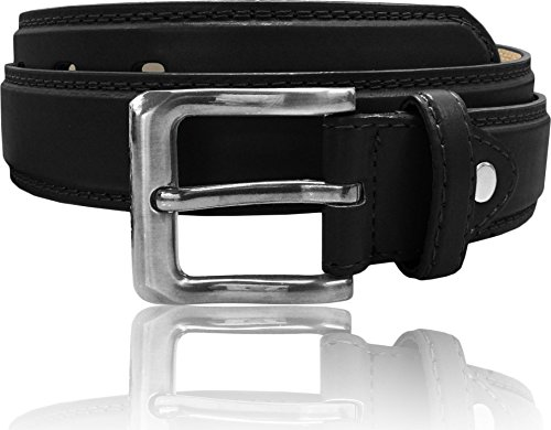 LUNA Women's Thick Wide Leather Belt - Dress - Black 3X-Large (3x Belts For Women compare prices)