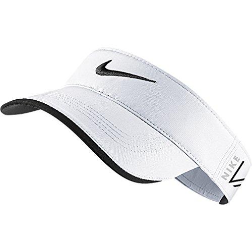 Nike Tour Golf Visor, One Size, White/Black