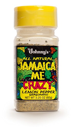 Johnny's Jamaica Me Crazy Lemon Pepper, 3.25 Ounce (Pack of 6) by Johnny's