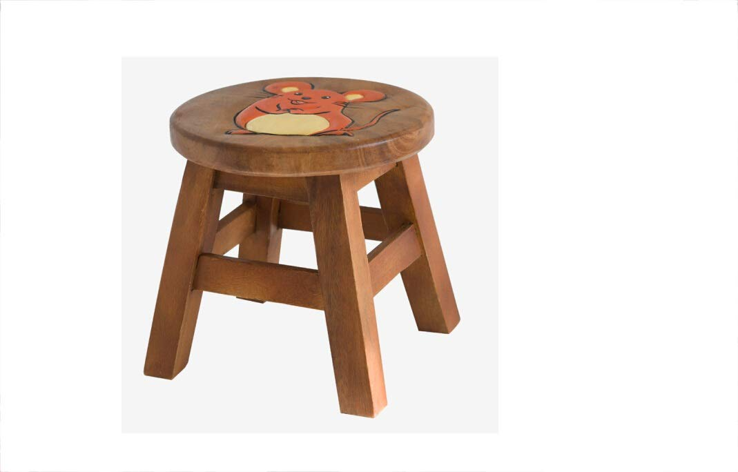 AO-stools Solid Wood Stool Small Stool Stool 2625cm (Color : C)