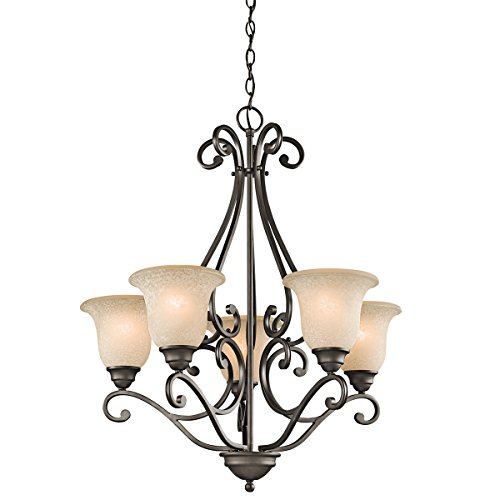 Chandeliers 5 Light with Olde Bronze Finished Medium Base Bulb 27 inch 500 Watts