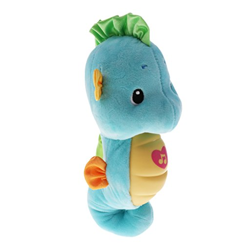 (Homyl Soothe & Glow Seahorse Doll Baby Sleeping Plush Toy Musical Style Baby Hold Toy - Blue, as Described)