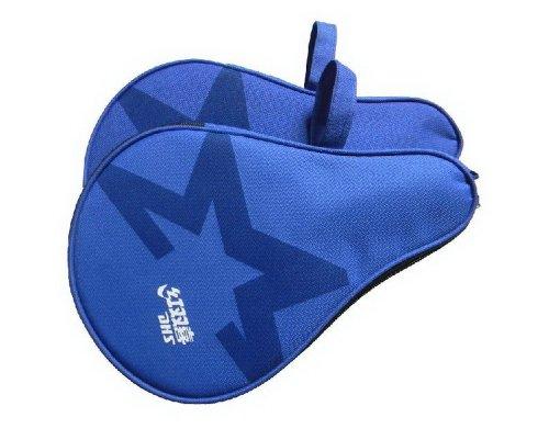 Runde Klingeln Pong Paddel-Abdeckung Blau Tischtennis-Schläger Abdeckung
