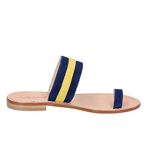 Suede Calpierre Sandals Blue Sandals Woman Calpierre dIYSPw