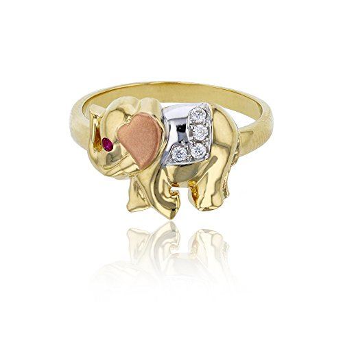 Elephant Tri Color Ring - 4