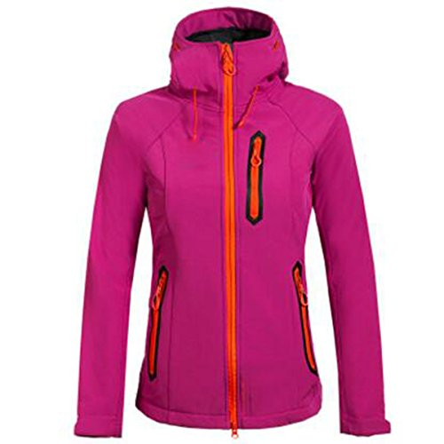 Lai Solid Giacche Softshell Fleece Outdoor Windproof Wu New Rosered Donna FBWIa