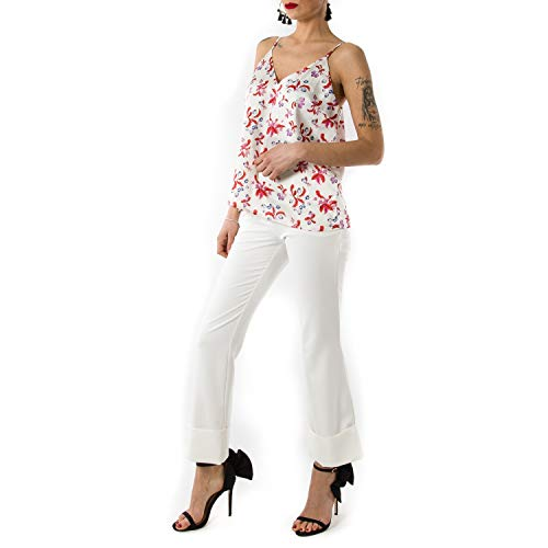 Isabelle Blanche Floreale Casual Top Con Stampa wA7vH6AY