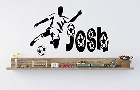 Personalizable de balón de fútbol Vinilo Adhesivo Decorativo para ...
