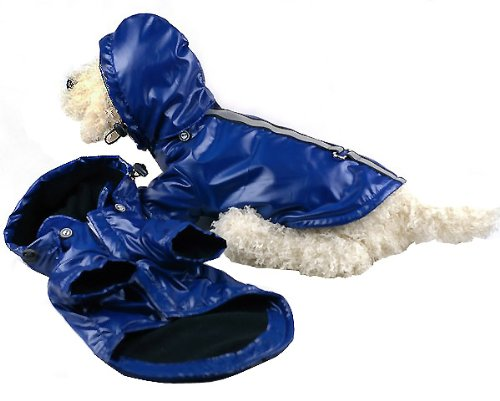 Pet Life Reflecta-Sport' Fashion Insulated Adjustable and Reflective Windproof Water-Resistant Pet Dog Coat Jacket Rainbreaker w/Removable Hood, Small, Dark Blue by Pet Life (Image #4)