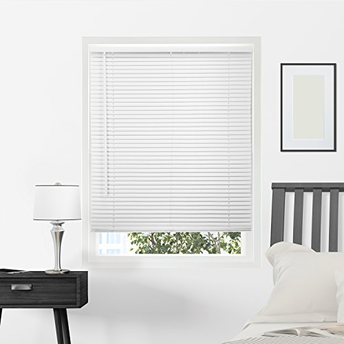 (Chicology Horizontal Venetian Slat Window Shade Cordless 1-Inch Mini Blinds 39