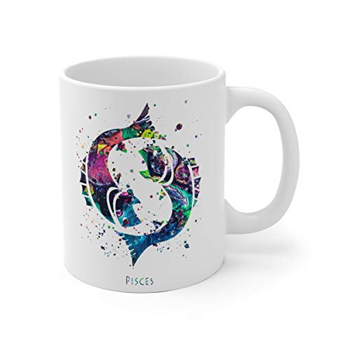 Pisces Zodiac Sign Mug - 11 oz, 15 oz
