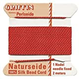 Griffin 1mm Thick Silk Cord Red - Size 16