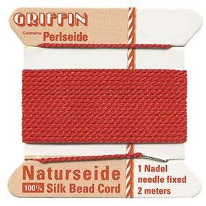 lk Cord Red - Size 16 (Twisted Wire Beading Needles)