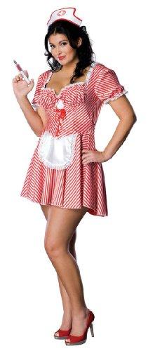 Candy Striper Nurse Costume - Plus Size - Dress Size 16-22