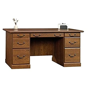 Bowery Hill Executive Desk in Milled Cherry
