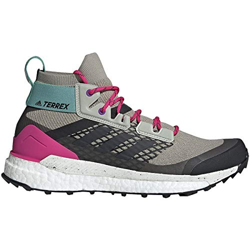 adidas outdoor Terrex Free Hiker Boot - Men's Sesame/Raw White/Real Magenta, 10.0
