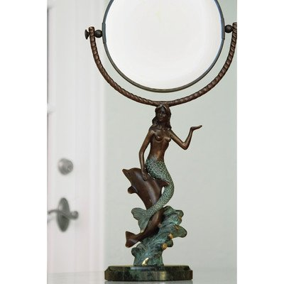 SPI Home 30392 Mermaid & Dolphin Mirror (Dolphins Brass Mirror)