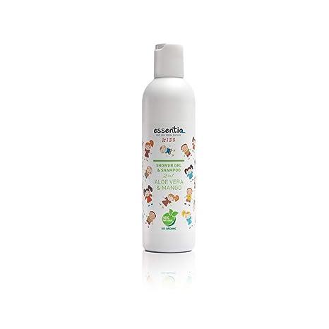 Essentiq - Veganes KIDS 2in1 Shampoo & Duschgel mit Aloe Vera & Mango I 100% natürlich I sanfte Reinigung für zarte Kinderhau