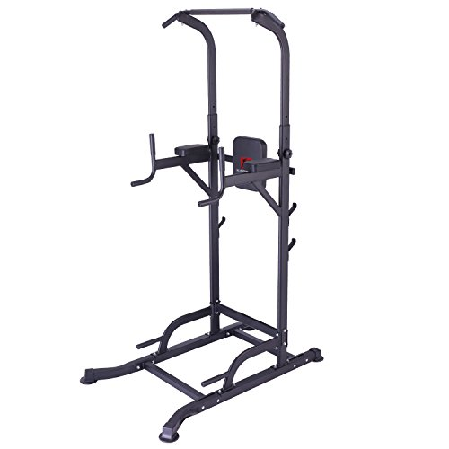 KiNGKANG Power Tower Adjustable Height Multi-Function Home Strength Training Fitness Workout Station by KiNGKANG