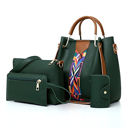 Verde Borse Tote Borsa Moda Set A Spalla Elegante Donna Crossbody Kigurumi 4pcs PRqgPd