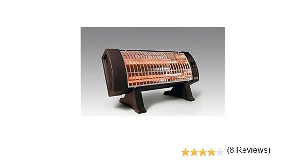 HJM 306 - Calefactor (Calentador de cuarzo, Piso, Negro, 1200 W, 600 W): Amazon.es: Hogar