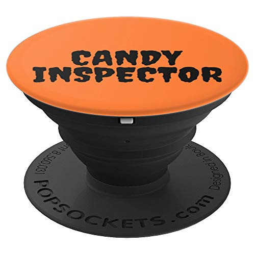 Candy Inspector Funny Halloween Quote on Orange Girls Boys - PopSockets Grip and Stand for Phones and Tablets -