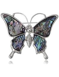 Multicolored Rhinestone Enamel Paint Butterfly Insect Wings Brooch Pin
