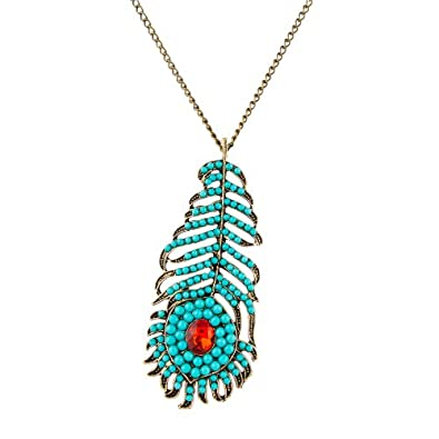 bohemia large retro products bros pendant mercantile peacock feather necklace holt