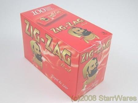 Caja de librillos de papel de liar Zig Zag rojo (100 unidades): Amazon.es: Jardín