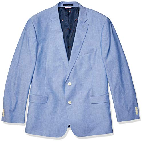 Coat 38 Short - Tommy Hilfiger Men's Modern Fit Stretch Comfort Blazer, Blue Chambray, 38S