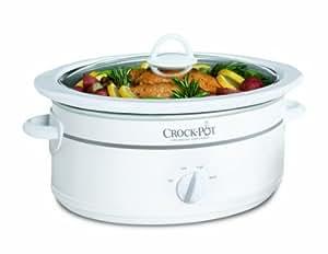 Crock-Pot 7 Qt Oval Slow Cooker, White