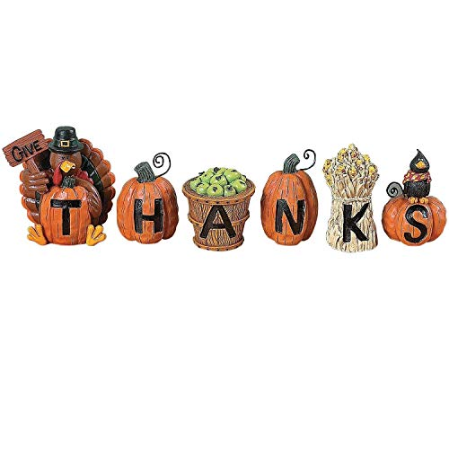dealsstore Give Thanks Blocks - Decorative Accessories (Blocks Thanks Give)